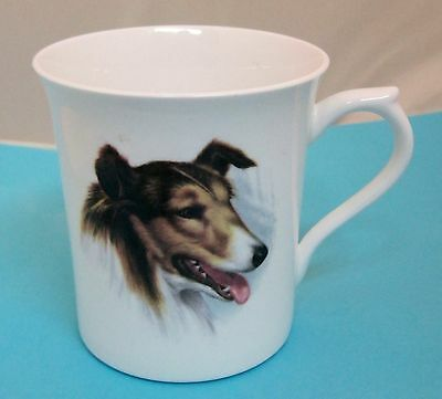 Vintage Queen's Rosina China Collie Coffee Tea Mug Cup T13