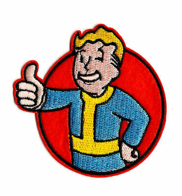 FALLOUT IRON / SEW ON PATCH Embroidered Badge Embroidery Cartoon Game PT92