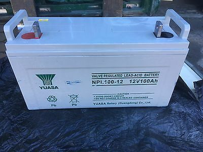 Used 12V 100A/H VRLA deep cycle AGM battery 5 years old