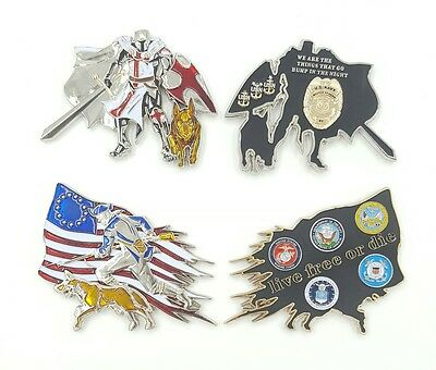 Lot of 4: U.S. Navy Chief Master-at-Arms & K-9 Dept of Defense Live Free or Die