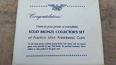 Franklin Mint 1968 Bronze Presidential Coin Set -  Complete, Sealed