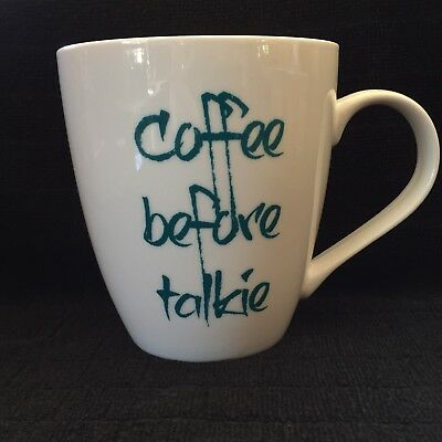 Coffee Before Talkie Mug Cup Pfaltzgraff Large Mug