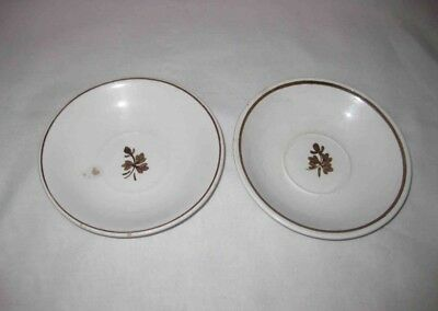 "Neat Pair Vintage 6"" Alfred Meakin TEA LEAF Royal Ironstone China Bowls"