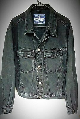 Union Bay Black Denim Jacket Jean Jacket  Size M  EUC