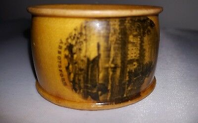 Antique Mauchline Ware Napkin Ring, Abbotsford