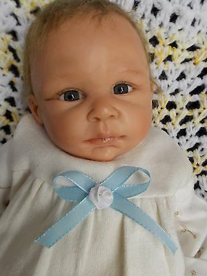 "17"" Allison by Michelle Fagan OOAK Preemie Handsculpted Polymer Clay Baby Doll"