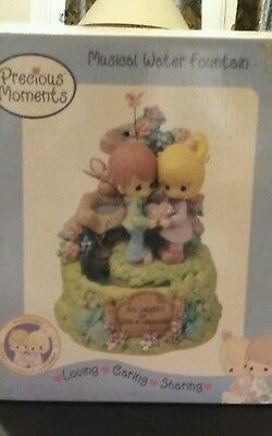 Precious  Moments  Musical  Water Fountain  30 Years of Love & Friendship - New