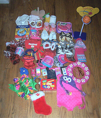 HUGE collection of Build-A-Bear accessories - hats, purses, shoes, LOTS MORE