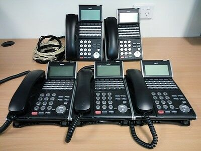 NEC Telephone Handsets DTL-24D-1A (BK)TEL DT300 Series (Lot of 5)