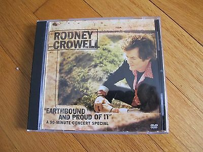 Rodney Crowell - Earthbound And Proud Of It - PROMO DVD - RARE!