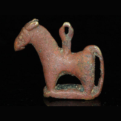 A Bactrian bronze horse amulet with stamp y79