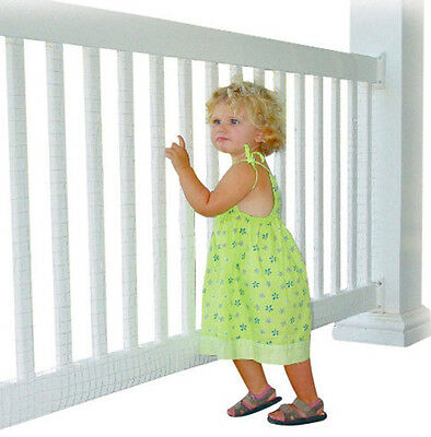 KID SAFE DECK GUARD Outdoor Patio Netting 16' Child Dog Barrier Porch Protection