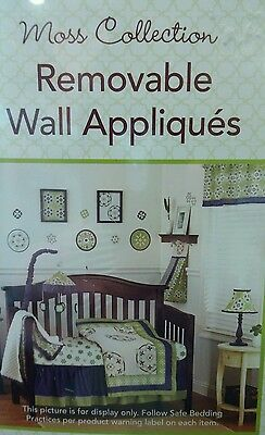 COCALO REMOVABLE WALL APPLIQUES DECALS Sage Green and Dark Blue