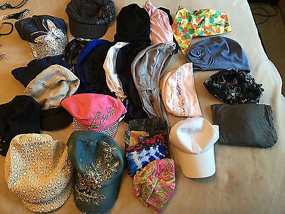 Huge Chemo Hat & Cap Lot- 28 Total ! Some Brand New
