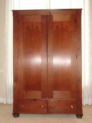 Walnut Victorian Armoire/ Wardrobe