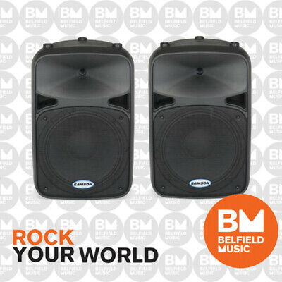 2 x Samson AURO D12 Passive Speaker 400 Watt RMS 12'' 2 Way 400W D-12 - New - BM