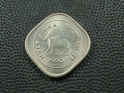 India       1 / 2  Anna    1950  -  B     Almost  Uncirculated
