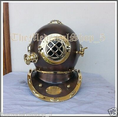 Solid Brass Anrique US Navy Divers Diving Helmet Vintage Style Full Size Gift
