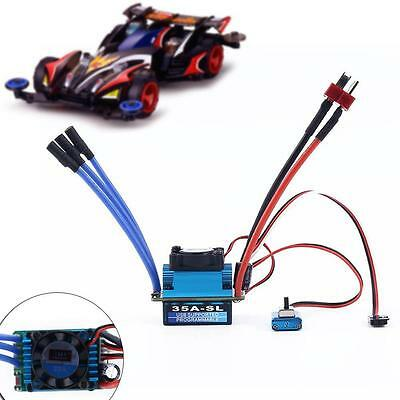 35A Brushless Sensorless 2-3S LiPo ESC Speed Controller for 1/10 RC Car Truck SS
