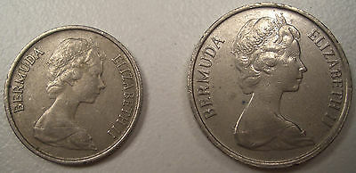 Lot Of 2 1971 & 1985 Bermuda 10 & 5 Cent Coins  Lqqk Nice Coin