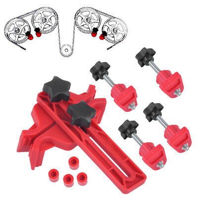 New Dual Cam Clamp Camshaft Engine Timing Sprocket Gear Locking Tool Kit Set