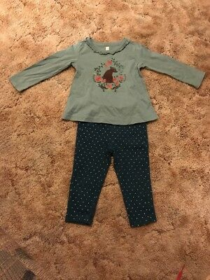 Tea Collection Girls Outfit, Size 18-24 Months