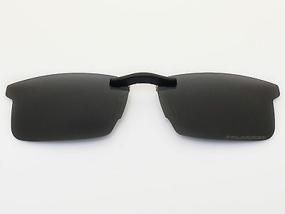 Custom Fit Polarized CLIP-ON Sunglasses For RB8411 54X17 Black