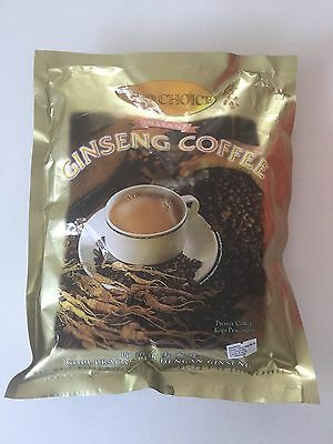 Gold Choice Instant Ginseng Coffee Panax quinquefolins 20gx20 Sachets Exp 2019