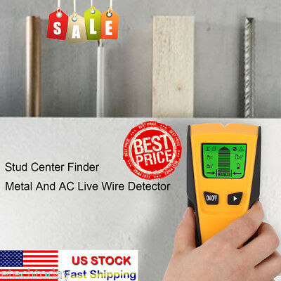 Floureon 3 in 1 AC Live Wire Scanner LCD Finder Wall Metal Detector Stud Center