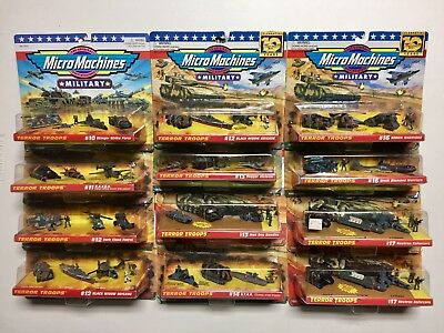 Micro Machines Collection Lot, Micro Machines Military, Micro Machines Lot of 12