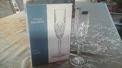 Waterford Crystal Marquis Brookside champagne flutes
