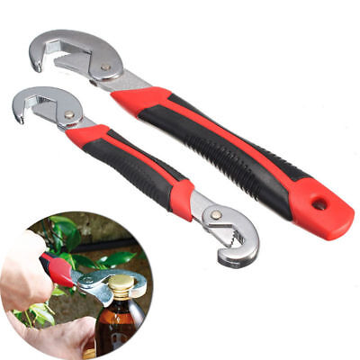 2Pcs Functional Universal Quick Snap'N Grip Adjustable Wrench Spanner Tool Black