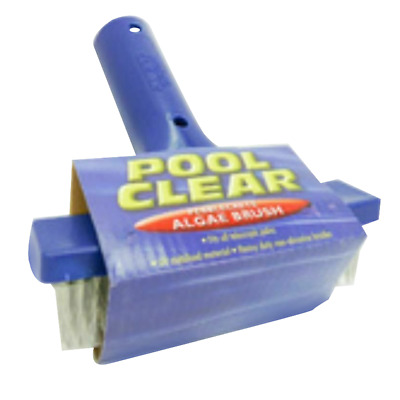 Pool Clear Algae Brush Swimming Pool Cleaner  - Heavy Duty Stainless Steel