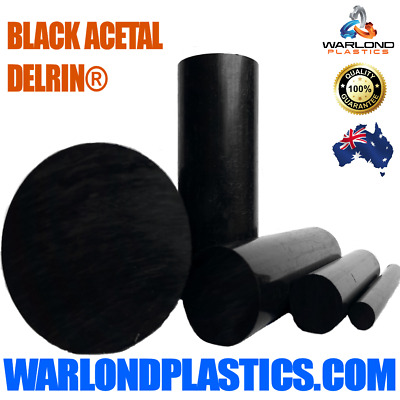 BLACK ACETAL DELRIN® ROD POMc PLASTIC ROUND – FREE SHIPPING!!!