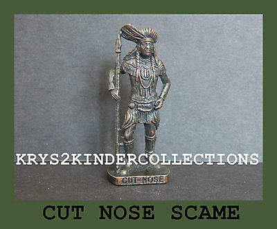 Jouet kinder métallique Indien II Cut Nose SCAME en Bruni France 1993 (k94 112)