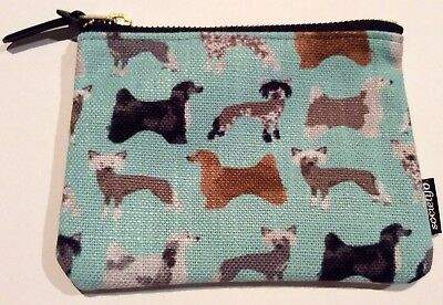 "Chinese Crested Hairless and Powder Puff Zipper Pouch 6""x5"""