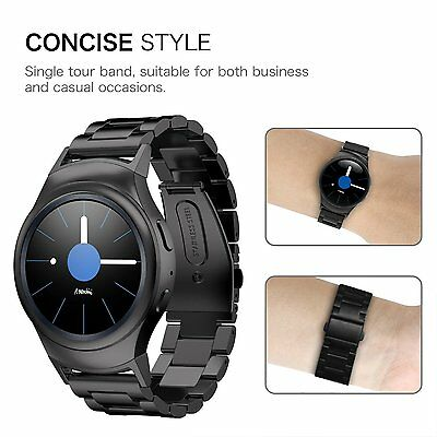 For Samsung Gear S2 SM-R720/R730 Watch Band Stainless Steel Strap Wrist Bands