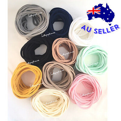 Bulk Baby Nylon Headbands Skinny 30 Pieces Ultra Soft Stretchy Elastic Headbands