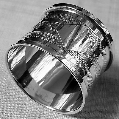 Rare Silver Jubilee Henry Griffith napkin ring 1934 Birmingham sterling NO mono