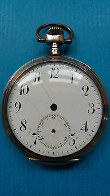 Silver Cased Pocket Watch for Spares or Repair