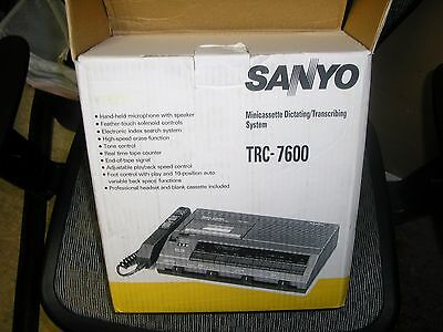 Sanyo Trc7600 Minicassette Dictating & Transcribing System- Factory Refurbished