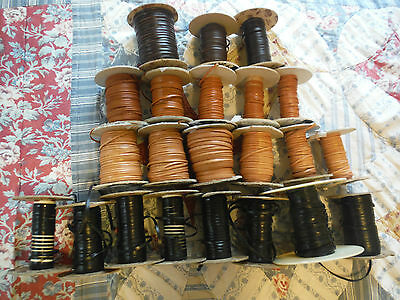 model horse leather lace(200+ yds assorted partial spools)