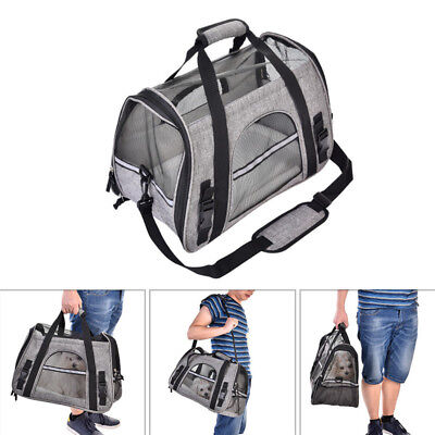 Pet Carrier Soft Sided Small Cat Dog Comfort Pads Travel Bag Airline Approved