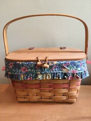 Longaberger 1991 Mother's Day Purse Basket with Liner