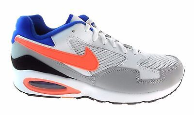 Nike AIR MAX ST Mens RUNNING Shoes Size 9 NEW WHITE BRIGHT MANGO GREY COBALT