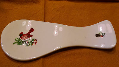 Royal Norfolk Cardinal Christmas Porcelain  Spoon Rest