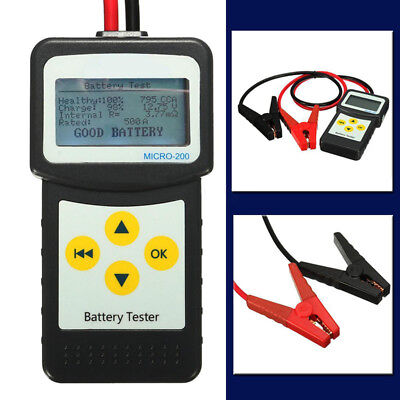 Digital 12V Car Battery Tester Auto Vehicle Battery Analyzer AGM GEL MICRO-200