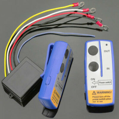 50ft 12V Winch Wireless Remote Control Switch Handset Kit For Jeep ATV SUV UTV
