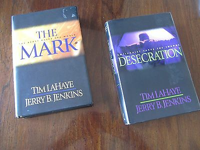 Lot of 2 Hardback Books-Tim Lahaye:Desecration and The Mark