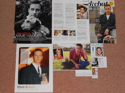 8- ARMIE HAMMER Magazine Clippings